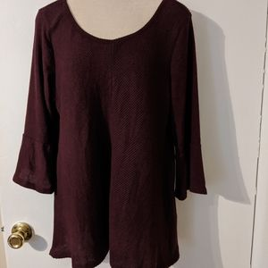 NWOT Apt. 9 light weight sweater with bell sleeves